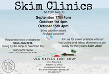 old naples surf shop skim clinic